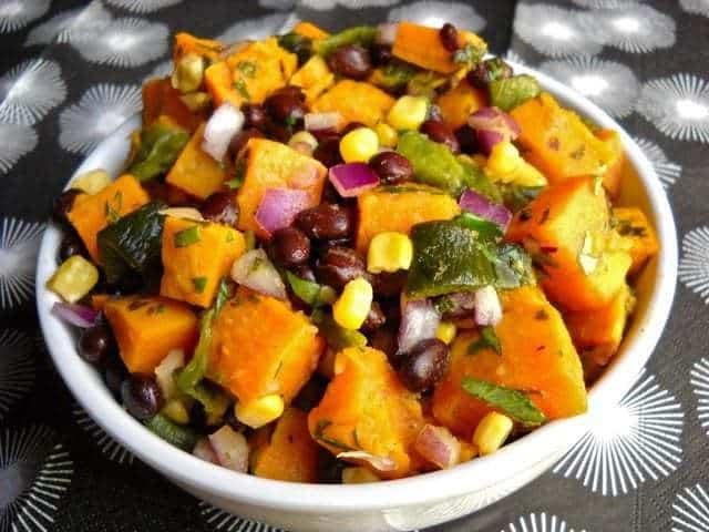 Roasted Poblano and Sweet Potato Salad - Budget Bytes