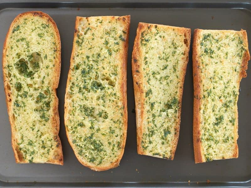 Garlic Bread Baked