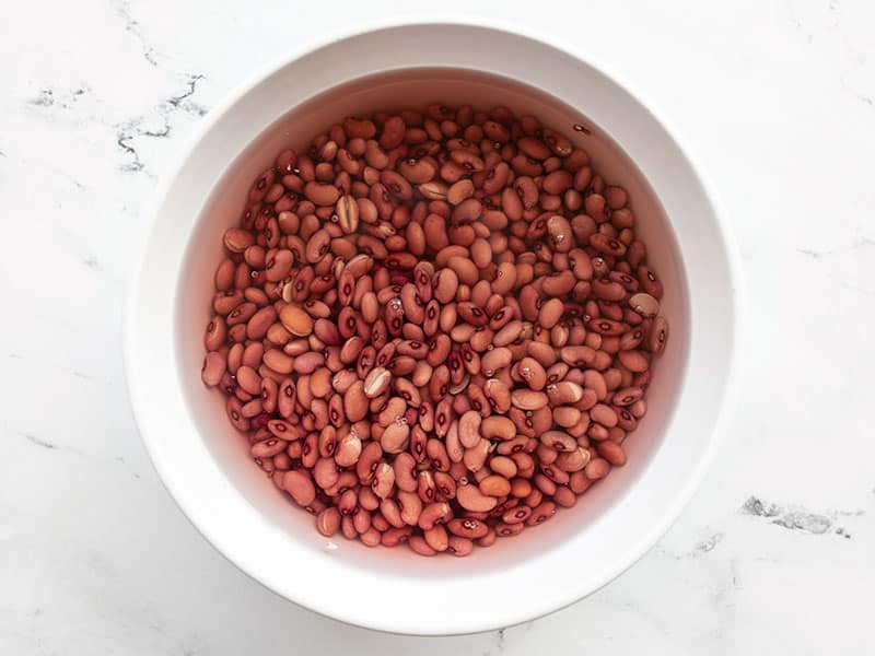 Soaked Beans in a bowl with water