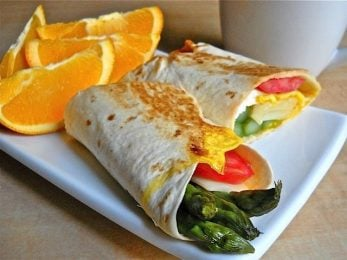 Asparagus Breakfast Wrap