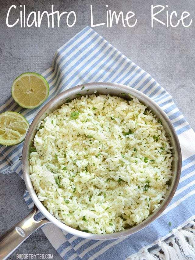 Cilantro Lime Rice - BudgetBytes.com
