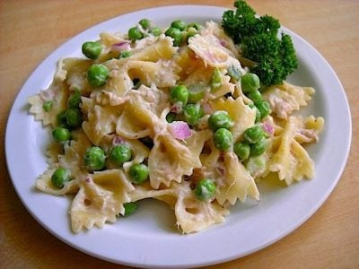 Tuna Pasta Salad with Peas