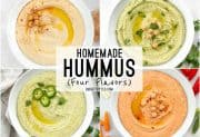 Homemade Hummus (four flavors)