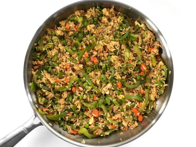 Finished Vegetable Not Fried Rice