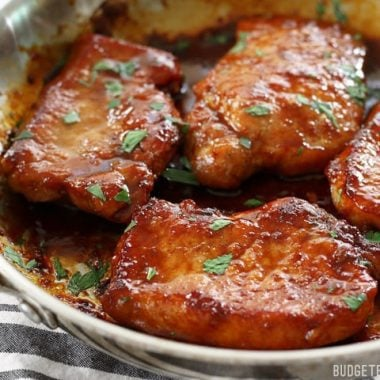 Glazed Pork Chops Easy Fast Juicy With Video Budget Bytes