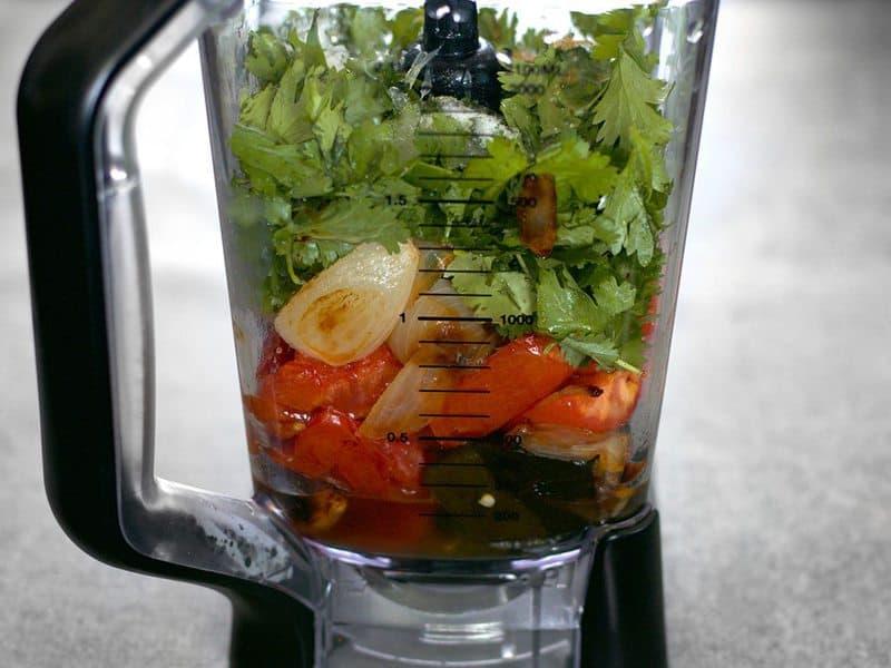 Salsa Ingredients in Blender 1