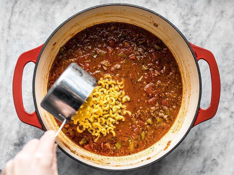 Add Macaroni to American Goulash