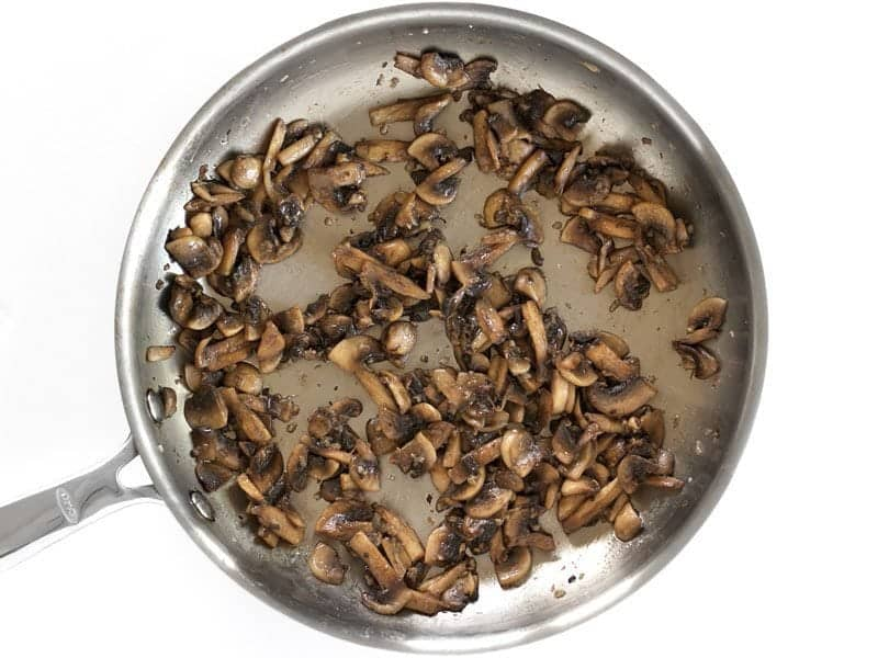 Sauté Mushrooms Until Dry