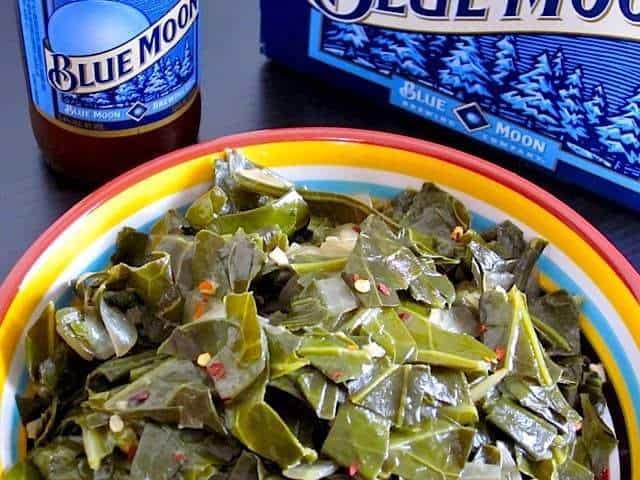 Beer Braised Collard Greens