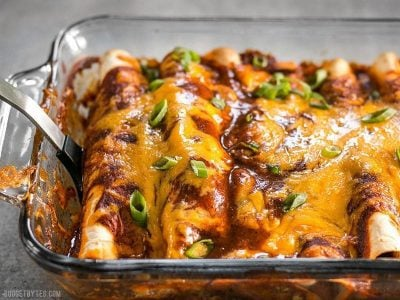 Chorizo & Sweet Potato Enchiladas