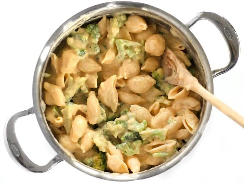 Finished Broccoli Shells and Cheese