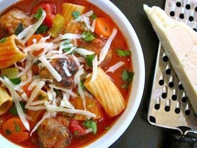 Hearty Meatball Soup