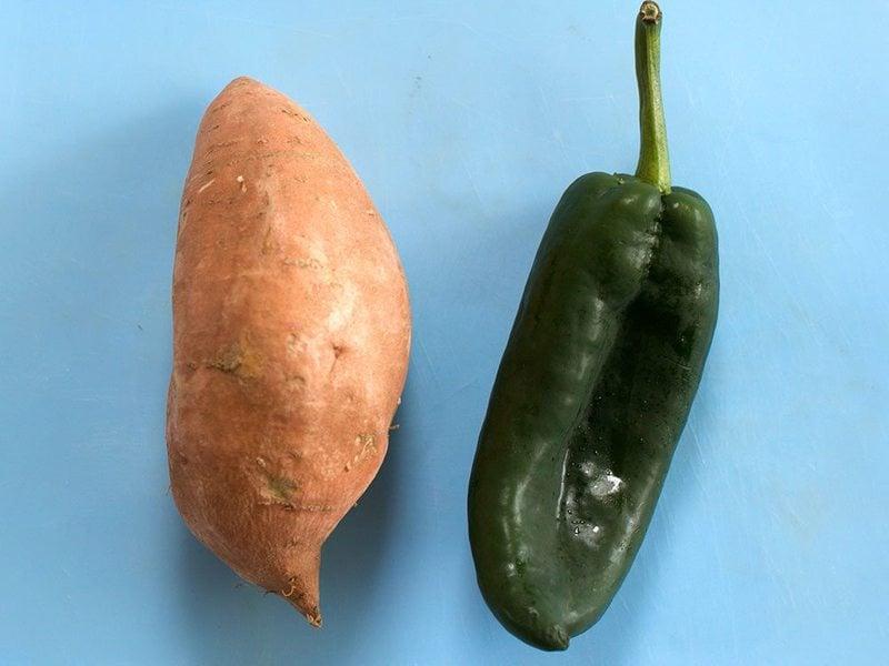 Sweet Potato and Poblano Pepper