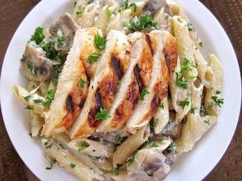 Creamy Chicken & Mushroom Pasta
