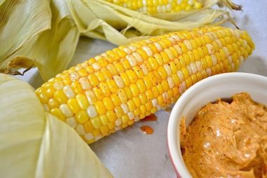 Roasted Corn with Honey Chili Butter