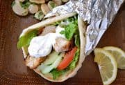 Homemade Grilled Chicken Shawarma Wrap