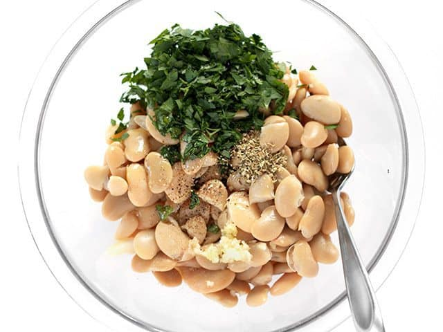 Marinated White Bean Salad Ingredients