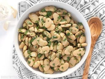 Marinated White Beans are a fast, easy, and versatile side dish that comes together in minutes. BudgetBytes.com