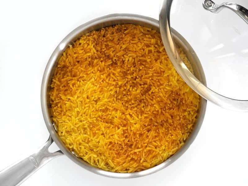 Cooked Yellow Jasmine Rice