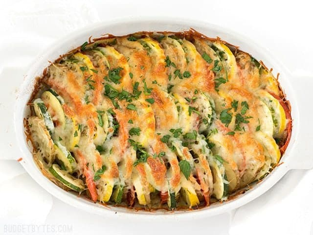 Baked Summer Vegetable Tian