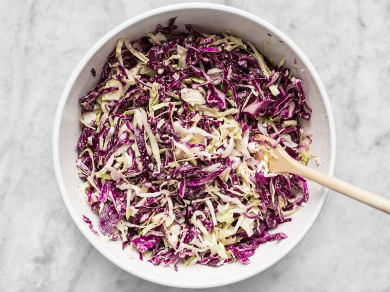 Vinaigrette Slaw with Feta finished