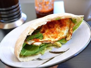 Avocado Breakfast Pita