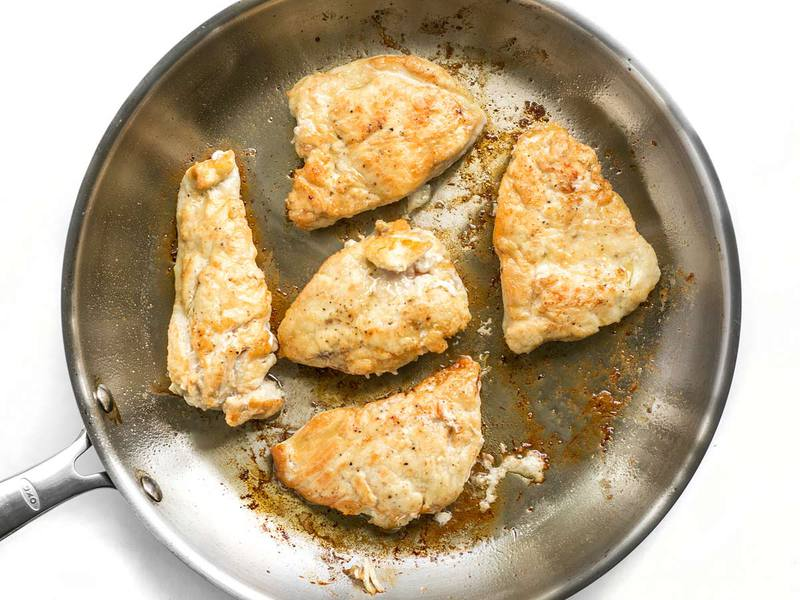 Browned Chicken for Chicken Piccata