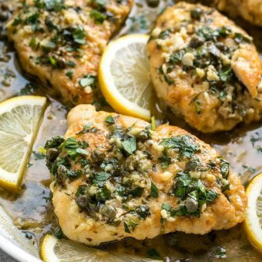This rich and tangy Chicken Piccata is a fast, easy, and elegant answer to dinner. With just a few ingredients and a lot of flavor! BudgetBytes.com