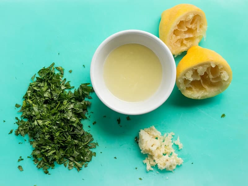 Lemon Parsley and Garlic for Chicken Piccata