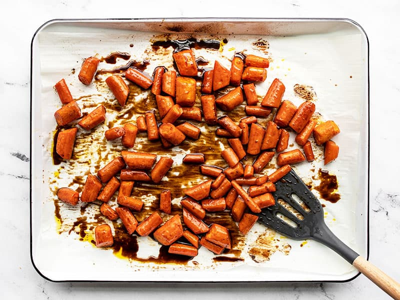 carrots tossed in honey balsamic glaze