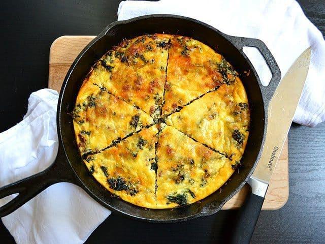 Kale & Chorizo Frittata