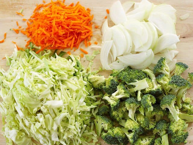 Slice Yakisoba Vegetables