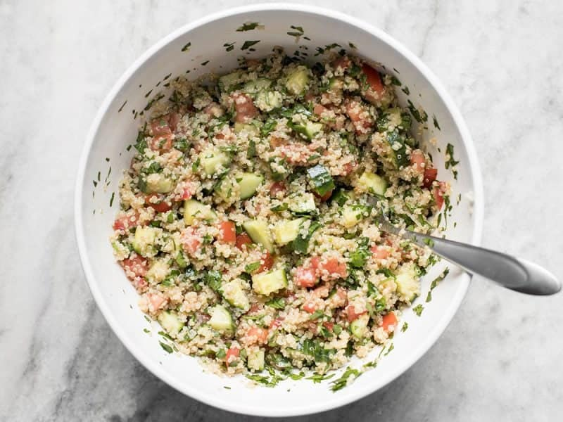 Finished Quinoa Tabbouleh