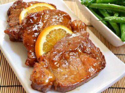 Orange Molasses Pork Chops