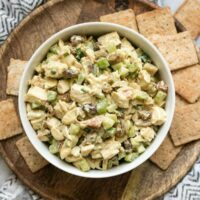 Curry Chicken Salad is a quick and tasty alternative to your traditional chicken salad with exotic curry spices, sweet raisins, and crunchy almonds. BudgetBytes.com