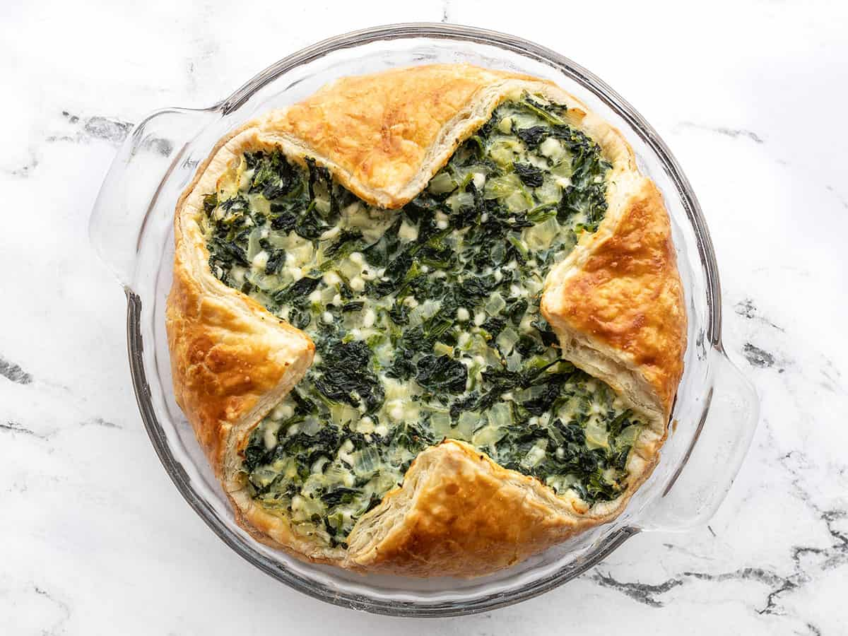 Baked spinach pie