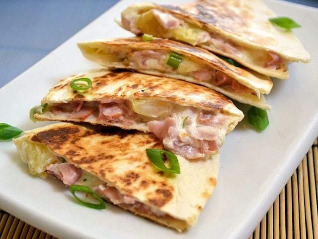 Hawaiian Ham Quesadillas - Budget Bytes