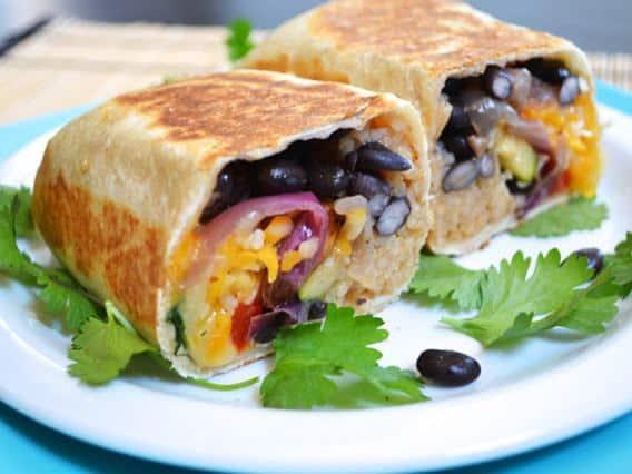 roasted vegetable burritos budget bytes