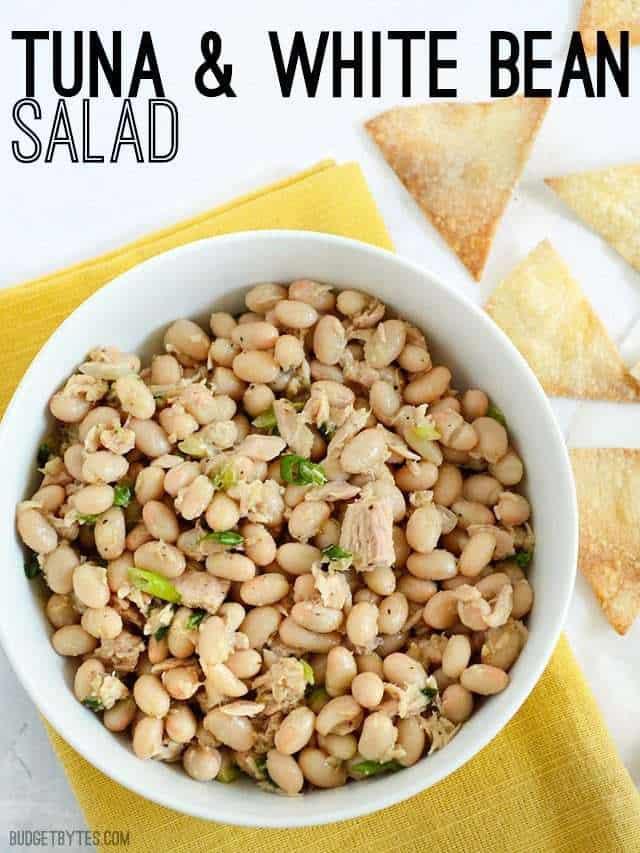 Tuna & White Bean Salad - BudgetBytes.com