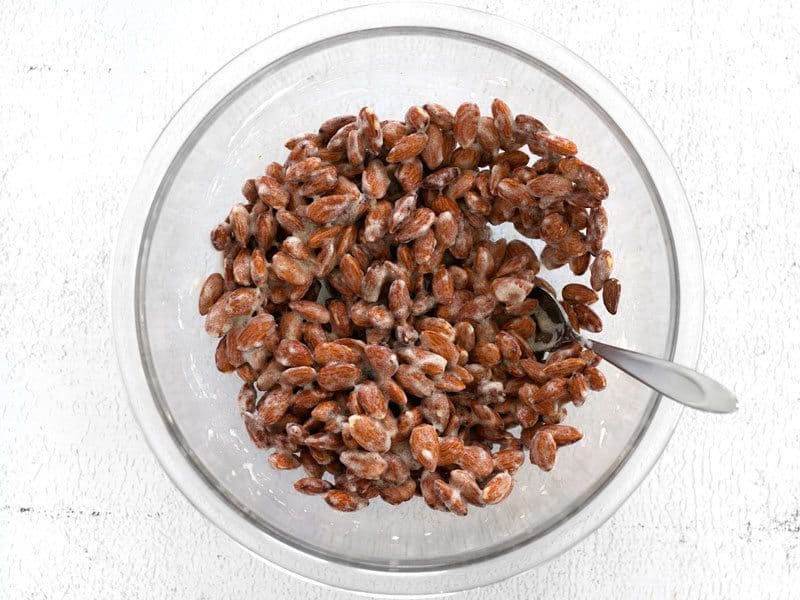 Almonds Coated in Egg Whites