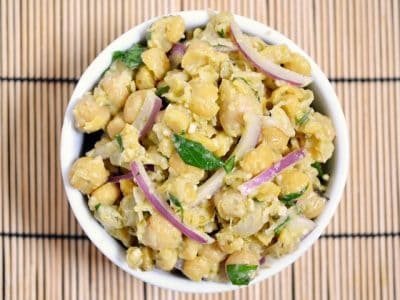 Pesto Chickpea Salad - Budget Bytes