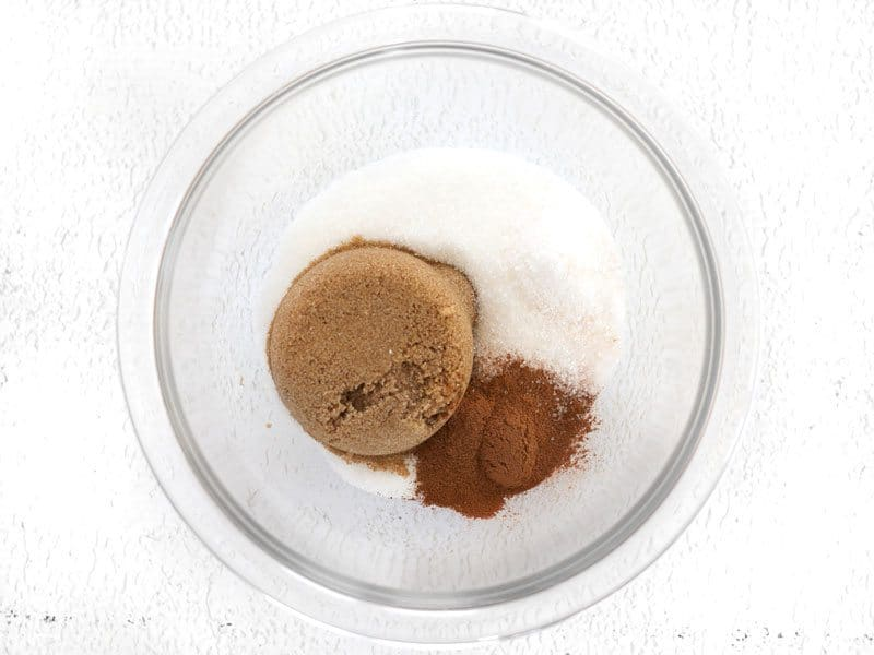 Cinnamon and sugars in bowl
