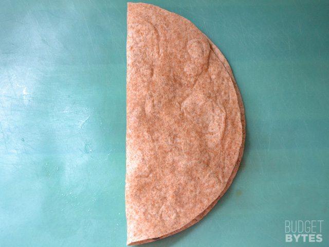fold quesadilla