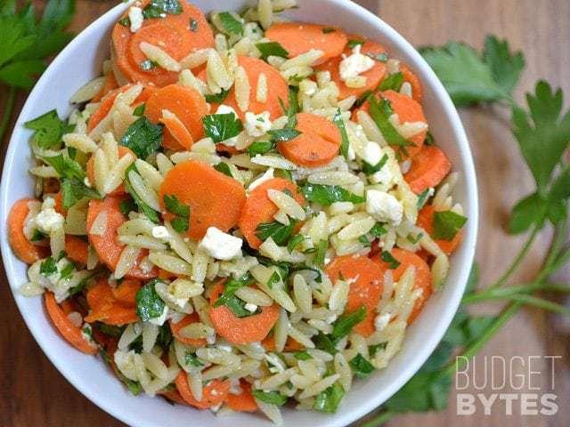Bowl of Carrot & Orzo Salad