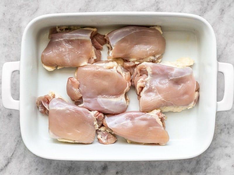 Chicken Thighs in Dish