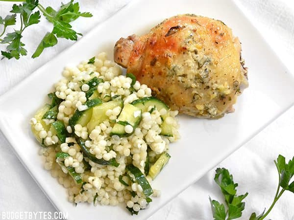 A tangy lemon and garlic marinade makes this Greek Marinated Chicken super fast and flavorful. Cook it in the oven or on a grill. BudgetBytes.com