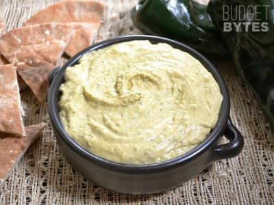 Roasted Poblano Hummus