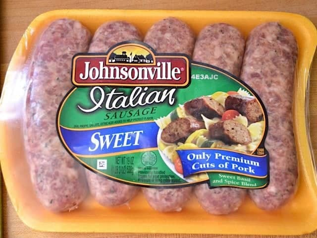 Package of Italian Sausage