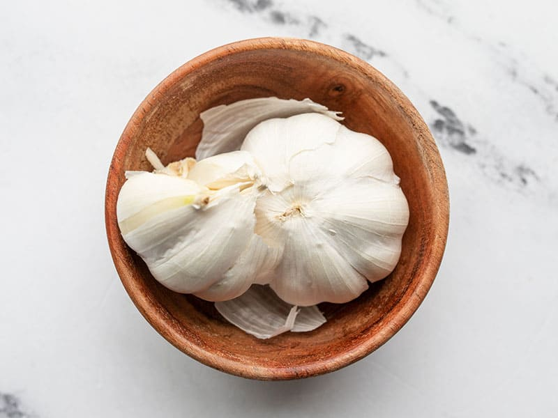 Garlic Cloves in a bowl