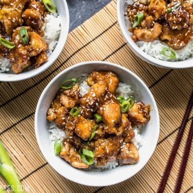This incredibly Easy Sesame Chicken is faster and tastier than take out. You control the ingredients, you control the flavor. Budgetbytes.com